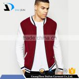 Daijun oem new design high quality cotton man red zip up cheap baseball jacket baseball jackets