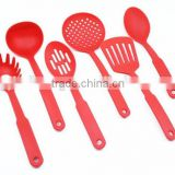 Wholesale red 6pcs plastic kitchen accessory set