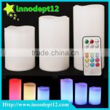 Wholesale Led candle light set 3 kinds of size with remote control