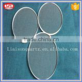 round quartz glass plate
