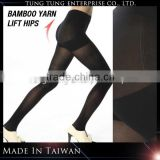 Taiwan Factory Bamboo Charcoal Yarn Black Opaque Tights