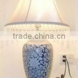 FOWDA Best sell China traditional Jingdezhen blue and white porcelain decorative table lamp