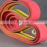 timing belts with non standards red and yellow high quality nylon transmission flat belt
