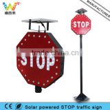 New Design Aluminum Waterproof Wind Resistant Driveway Solar Stop Sign