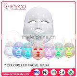 Skin Rejuvenation LED Photon Mask sound activated led mask led mask 7 colors for acne rejuvenation