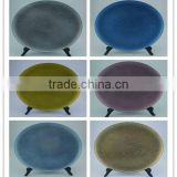Newest Design Oval Plastic Wedding Cheap Charger Plates Wholesale/plastic blue charger plates