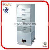Stainless steel gas steam cabinet