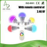 Smart LED Bulb With Remote Control For Intelligent Home System, 16 000 000 kinds color of light-changing Smart LED Bulb