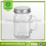 8oz glass mason jar with silver cover