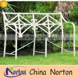 Outdoor custom Cream scroll garden bench iron NTIRH-012Y