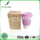 Professional OEM available Good quality bamboo coffee cup disposable