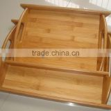 2017 Totally natural bamboo tray with handle