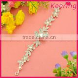 wholesale fashion white elegant flower hair decoration chain with rhinestone for wedding decoration in bulk WHD-033