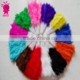 Wholesale good quality multicolor turkey feather fan