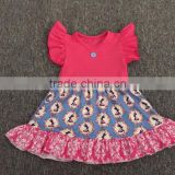 2017 Wholesale cheap clothes summer kids dress designs fashion beige baby frocks girls dress names with pictures