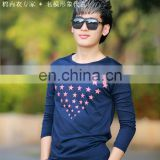 Peijiaxin Fashion Design Long Sleeve Star Wholesale Custom All Over Print T-shirt