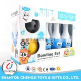Factory Wholesale 6pcs 25cm funny play mini bowling pins for kids