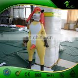 Inflatable Shemale Sex Doll with Inflatable SPH and Dildo for Men and Women, Custom Inflatable Cartoon Character for Sale