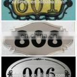 Custom rubber label logo alphabet letters for luggage tags print