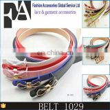 custom colors simple punching design fashion belt for ladies