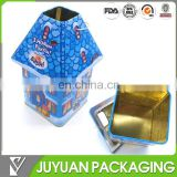 Christmas house shape metal food storage gift containers box
