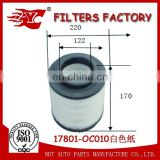 Genuine Air filter 17801-OC010/17801-0C010/17801-0C030/17801-0C020/WE01-13-Z40/C23107/1449296/6M34-9601-AA used for Toyota Mazda