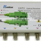 FTTH Four Ways CATV Fiber Optic Receiver build in CWDM/Fiber Optic Node/fiber optical equipment