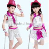 In stock girls and boys sequined jazz dance costume Modern dance costume modern dance costumes