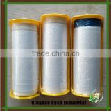 High quality protective pretaped masking film with dispenser