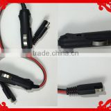 NEW Female Gender Cigarette plug & SR with 18AWG 2C Cable OF Cable Assembly