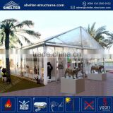 Cheapest price UV-resistant pagoda shape marquee tent outdoor tent with glass panel with glass wall