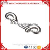 China Supplier Sale Rigging double end bolt snaps,Solid brass fixed Eye Bolt Snap Hooks For Handbag Nickel Plated Galvanized