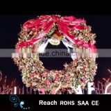 2016 fashionable Wholesales Factory Price Christmas Wreath for christmas decoration