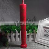 Red Tapered Paraffn Wax Religious Activity Candle For New Year