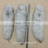 2015 super big 50cm natrual blue color fox fur tail for keychain and butt plug and fur keychain