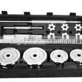 cast iron 50kg adjust dumbbell barbell set