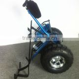 Two wheel self balancing electric scooter with golf bag carrier bracket,electric golf car