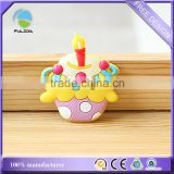 birthday cake candle Soft pvc plastic promotional refrigerator magnet
