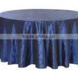 round pintuck taffeta table cloth/ wholesale pintuck taffeta table linen wedding decoration