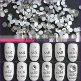 White Clear 1440pieces/bag Shining Flatback Non Hotfix Glue on Rhinestones Nail Art Crystal