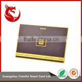 High class metallic gold plated cards with surface brushed metal vip