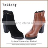 New model low heel rubber sole sheep suede leather ankle boots women shoes