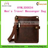 2016 Fashion Hot Sell Faux Leather Men's Sport Cross-Body Messenger Bag Men Travel Shoulder Bag