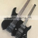Weifang Double neck headless electric guitar in black colour