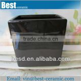 big square shape ceramic black glazed flower pots                                                                         Quality Choice