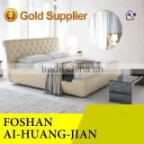 new design leather bed,upholstered headboard leather bed,crystal leather bed frames
