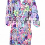 Japaness Spa Bath Robe satin floral sleepwear Bridal Apparel