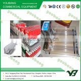 plastic shelf pusher and acrylic divider