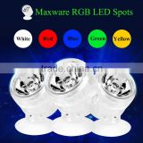 Eco-friends high quality aquarium fish tank submersible waterproof underwater RGB led spotlight light