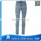 Custom Acid Wash Light Denim Jeans In Dubai